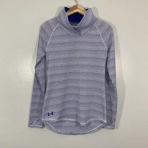 Under Armour Blue White Striped Long Sleeve